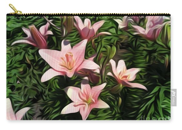 Candy-striped Day Lilies Carry-all Pouch