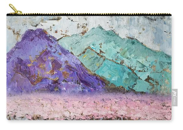 Canigou With Blooming Peach Trees Carry-all Pouch