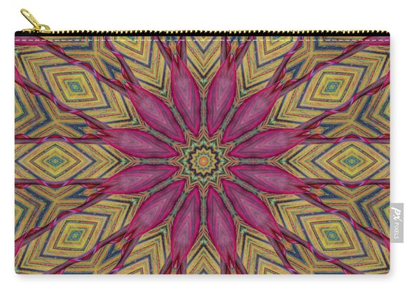 Canna Leaf - Mandala - Transparent Carry-all Pouch