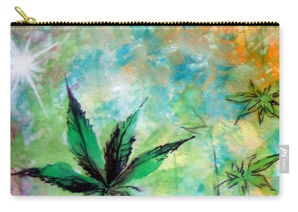 Cannabis Sativa Leaf - 02 Carry-all Pouch