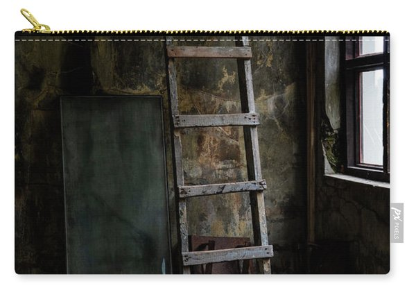 Carry-all Pouch featuring the photograph Cannery Ladder by Tom Singleton