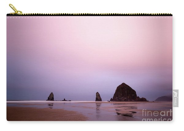 Cannon Beach In The Early Morning Blue Light Carry-all Pouch