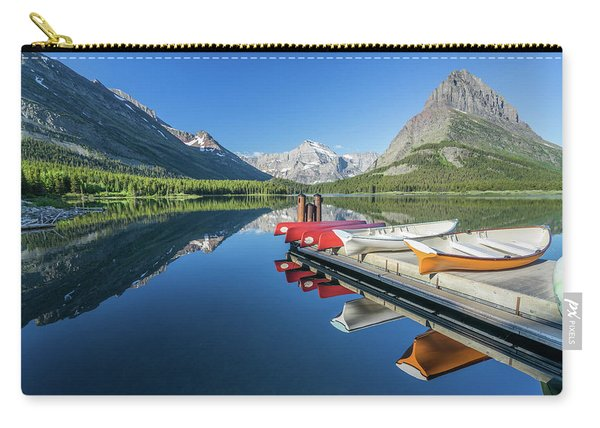 Canoe Reflections Carry-all Pouch