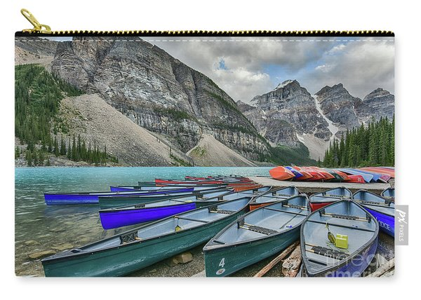 Canoes On Moraine Lake  Carry-all Pouch