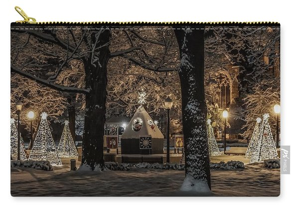 Canopy Of Christmas Lights Carry-all Pouch