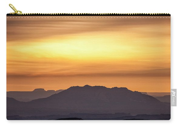 Canyon Layers With Fiery Sunrise Carry-all Pouch
