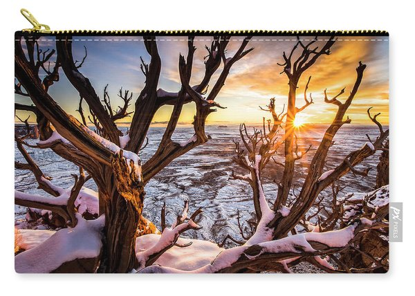 Canyonlands Winter Sunset Carry-all Pouch