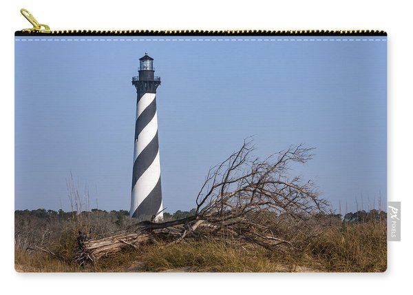 Cape Hatteras Lighthouse With Driftwood Carry-all Pouch