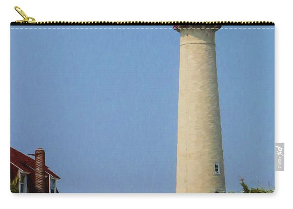 Cape May Lighthouse Vertical Carry-all Pouch