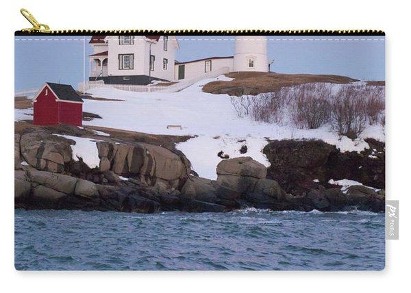 Cape Neddick Light At Dusk, York, Maine 21073 Carry-all Pouch