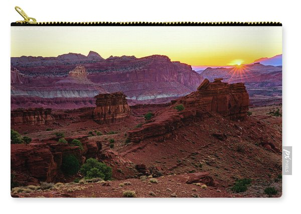 Capitol Reef Sunrise Carry-all Pouch