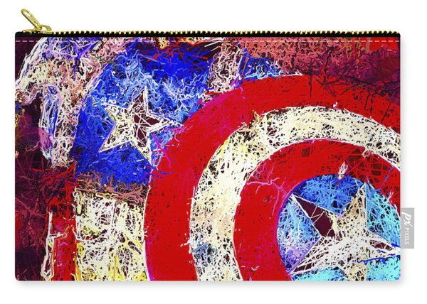 Carry-all Pouch featuring the mixed media Captain America by Al Matra