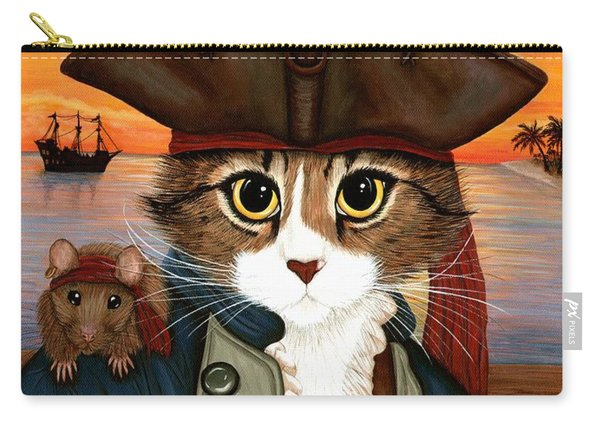 Captain Leo - Pirate Cat And Rat Carry-all Pouch