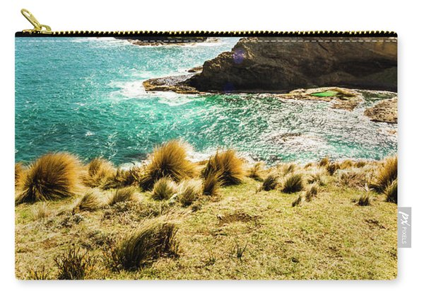 Captivating Coastal Cliff Carry-all Pouch