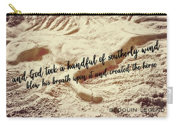 Captured In The Sand Quote Carry-all Pouch