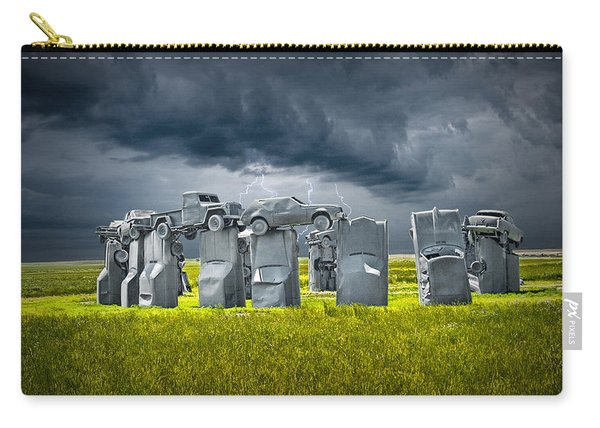 Car Henge In Alliance Nebraska After England's Stonehenge Carry-all Pouch
