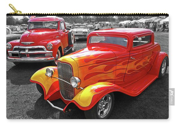 Car Show Fever - 54 Chevy With A 32 Ford Coupe Hot Rod Carry-all Pouch