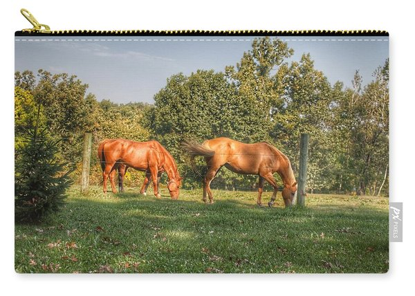 1006 - Caramel Horses I Carry-all Pouch