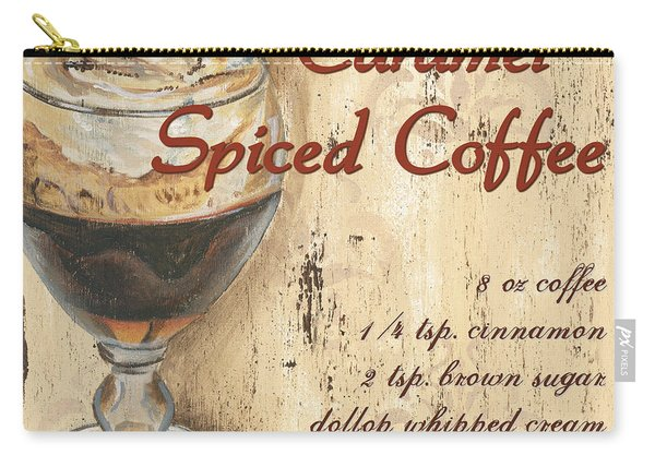 Caramel Spiced Coffee Carry-all Pouch