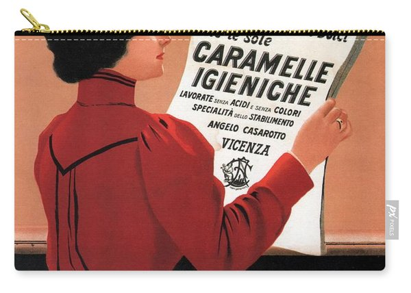 Caramelle Igieniche - Vicenza, Italy - Vintage Advertising Poster Carry-all Pouch
