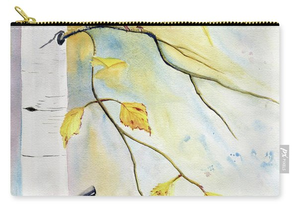 Cardinal On Birch Tree Carry-all Pouch