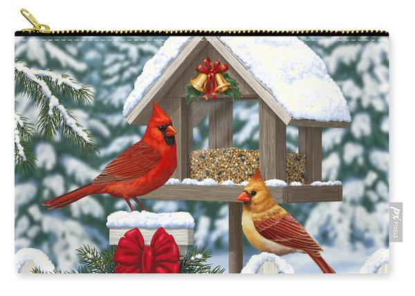Cardinals Christmas Feast Carry-all Pouch