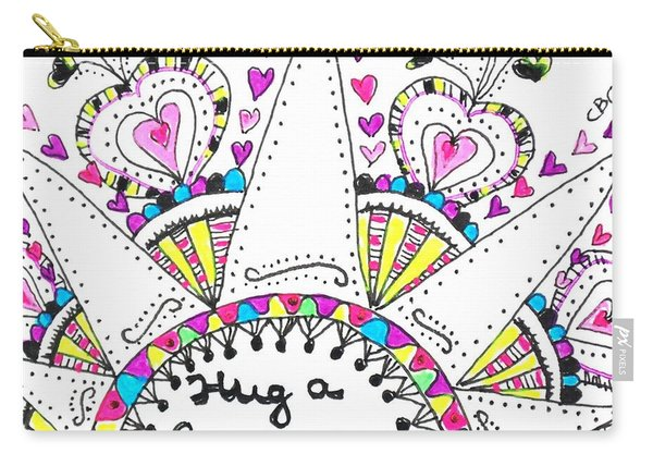 Caregiver Crown Of Hearts Carry-all Pouch