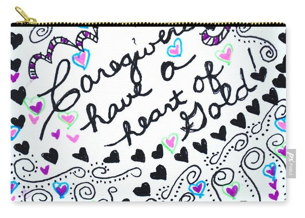Caregiver Hearts Carry-all Pouch