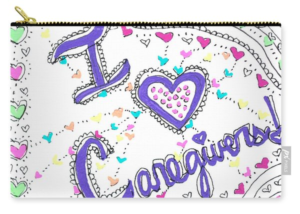 Caring Heart Carry-all Pouch