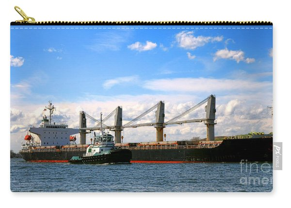 Cargo Ship And Tugboats  Carry-all Pouch
