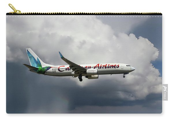 Caribbean Airlines Boeing 737-8q8 Carry-all Pouch