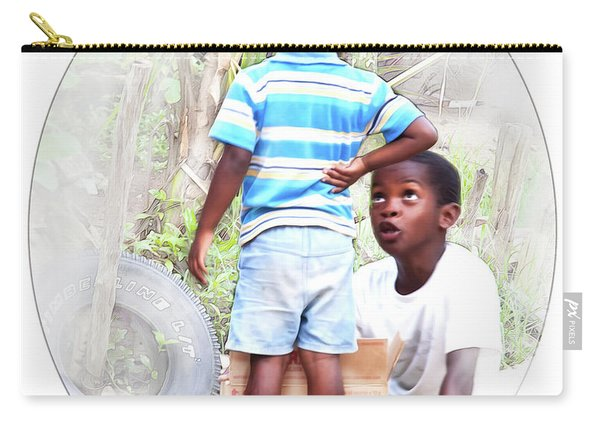 Caribbean Kids Illustration Carry-all Pouch