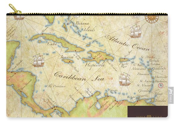 Caribbean Map II Carry-all Pouch
