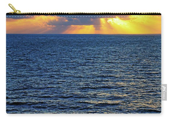 Caribbean Sunrise At Sea - Ocean - Sun Rays Carry-all Pouch