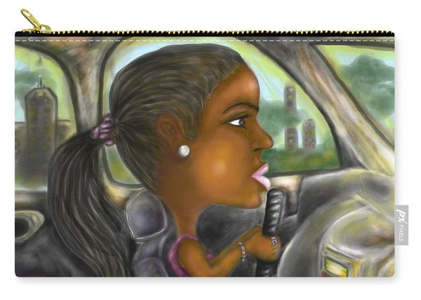 Caricature Ride With Jay Carry-all Pouch