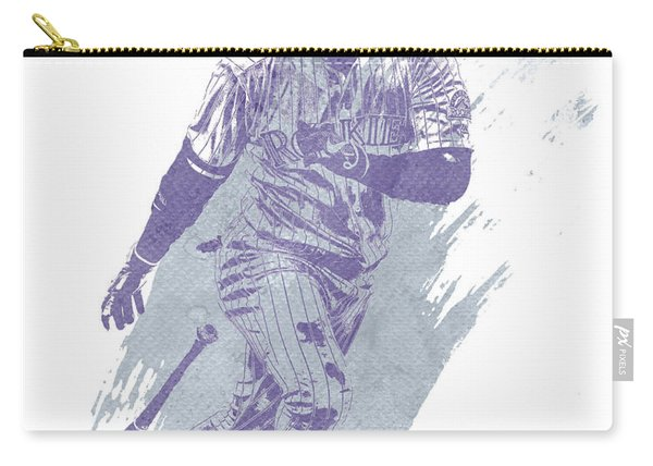 Carlos Gonzalez Colorado Rockies Water Color Art 1 Carry-all Pouch
