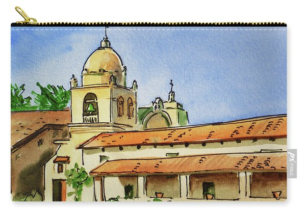 Carmel By The Sea - California Sketchbook Project  Carry-all Pouch