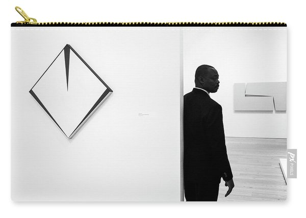 Carmen Herrera At The Whitney 1 Bw Carry-all Pouch