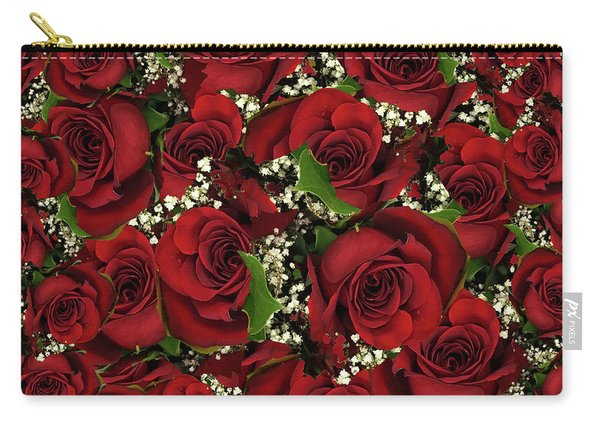 Carmine Roses Carry-all Pouch