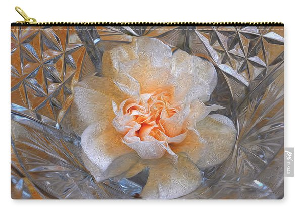 Carnation In Cut Glass 7 Carry-all Pouch