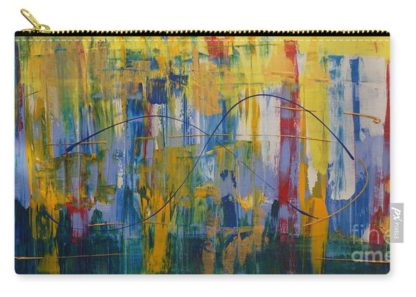 Carry-all Pouch featuring the painting Carnival by Jimmy Clark