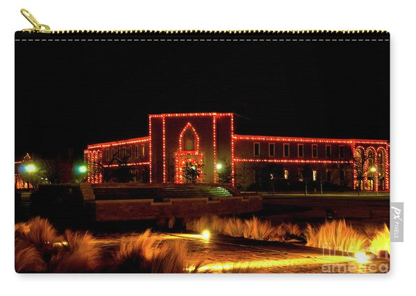 Carry-all Pouch featuring the photograph Carol Of Lights At Science Building by Mae Wertz