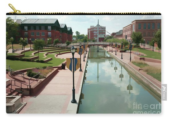 Carroll Creek Park In Frederick Maryland With Watercolor Effect Carry-all Pouch