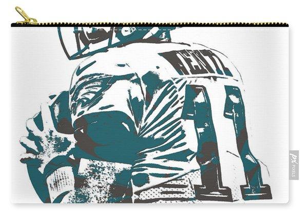 Carson Wentz Philadelphia Eagles Pixel Art 9 Carry-all Pouch