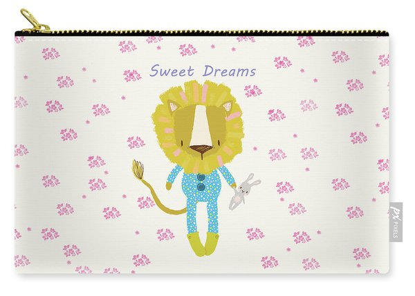 Cartoon Sweet Dreams Lion Carry-all Pouch