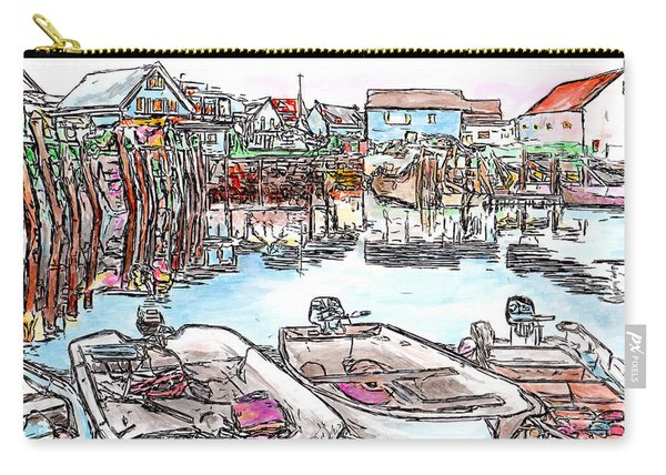 Carvers Harbour With Boats , Vinal Haven,  Maine Carry-all Pouch