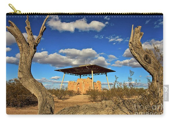 Carry-all Pouch featuring the photograph Casa Grande Ruins National Monument by Sam Antonio Photography