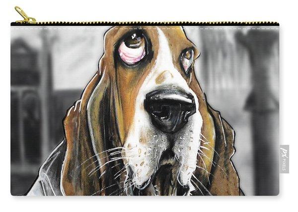 Casablanca Basset Hound Caricature Art Print Carry-all Pouch