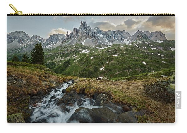 Cascade In The Alps Carry-all Pouch