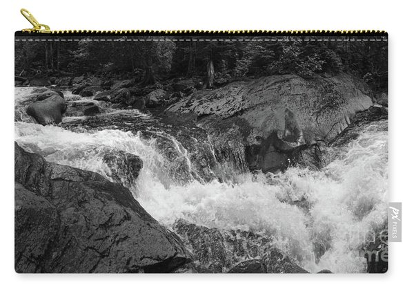 Cascade Stream Gorge, Rangeley, Maine  -70756-70771-pano-bw Carry-all Pouch